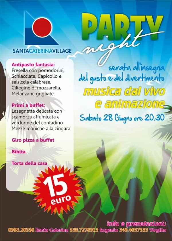 SCALEA. ALL'HOTEL S. CATERINA PARTY NIGHT.